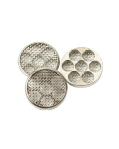 Ces filtres/grilles pour vaporisateurs IOLITE se placent dans la chambre de remplissage et empêchent les particules d'herbe de pénétrer dans votre embout